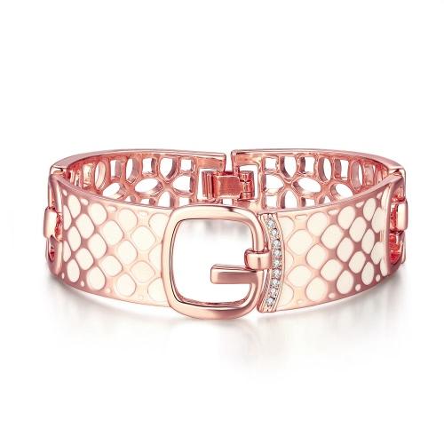 Вьеннский моды горный хрусталь полые широкий геометрические манжеты браслет браслет ювелирных украшений партии подарок