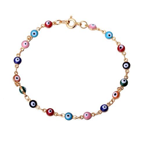 Мода Новый уникальный Красочные позолоченный медный браслет с глаз, как шарики для женщина девушка подарка венчания партии