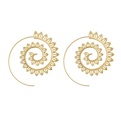 Мода Vintage покрыты круглые спиральные сердца Water-Drop Shaped мотаться серьги