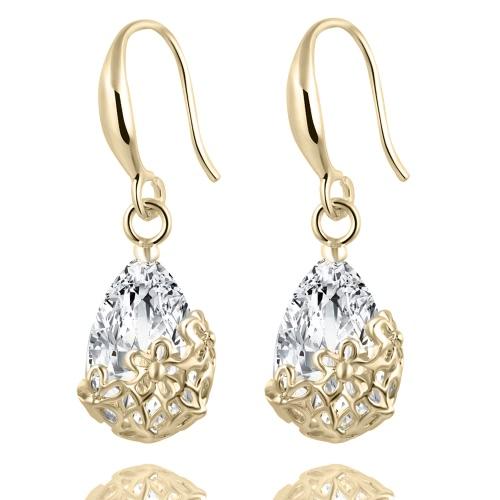 Свадебный кристалл Zircon Dangle Elegant Classic Women Earring Flowers
