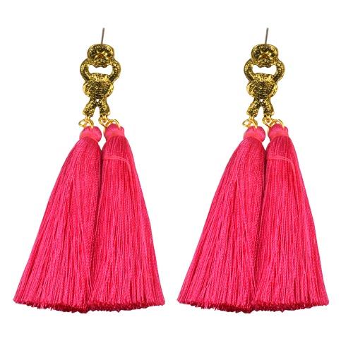 Мода Популярные ретро чешский стиль Длинные кисти падение кисти