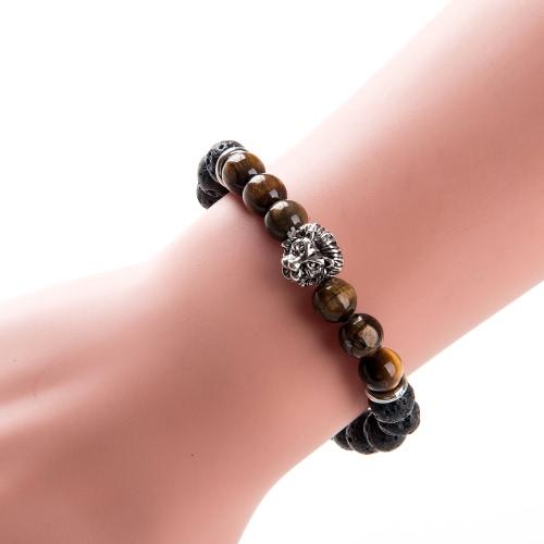 Новая мода Уникальный Мужчины Женщины Природный камень бисер браслет шарма ювелирных изделий для подарка партии Unisex