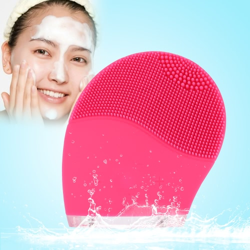 Silicone Vibration Brush Electric Facial Cleaner