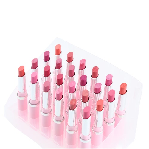 24Pcs Cosmetic Makeup 12 Colors Glossy Lipsticks