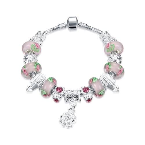 Мода уникальный шарм кристаллические шарики металлические цепи браслет ювелирные изделия для женщин девушка подарка партии