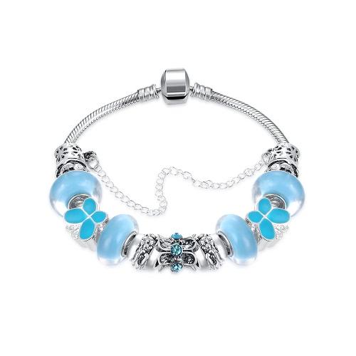 Мода уникальный шарм кристаллические шарики Щепка гальваническим металлической цепью браслет ювелирные изделия для женщин девушка подарка партии