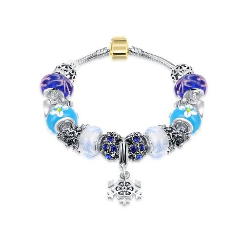 Мода уникальный шарм Красочные кристаллические шарики металлические цепи браслет ювелирные изделия для женщин девушка подарка партии