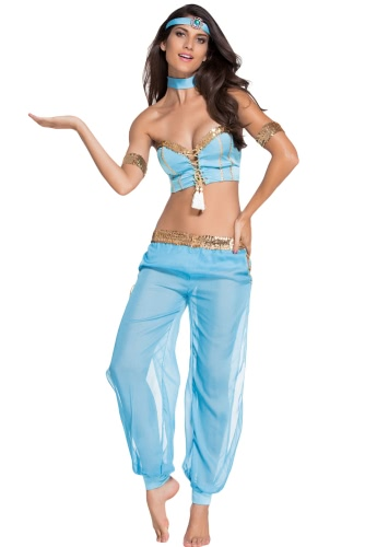 Голубая танцовщица Sexy Belly Dancer Костюм